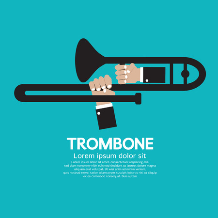 wind instrument: Trombone Vector Illustration
