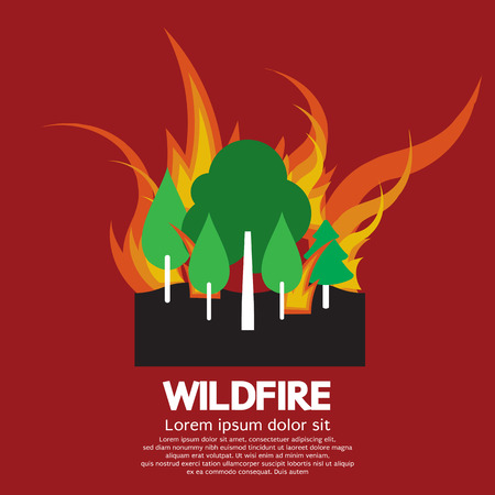 wildfire: Wildfire Vector Illustration