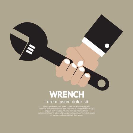 grasp: Wrench Vector Illustration