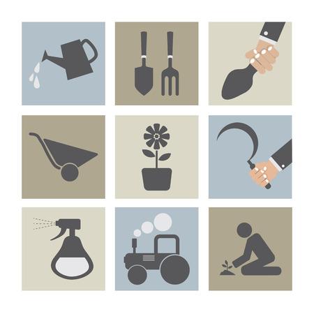 agricultural equipment: Agricultural Equipment Icons  Illustration