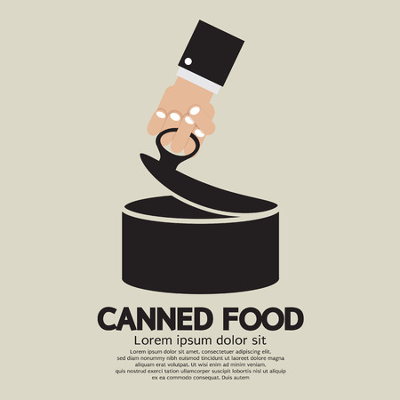 canned goods: Canned Food Vector Illustration Illustration