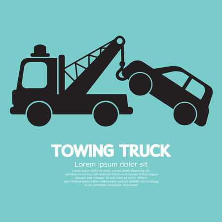 Car Towing Truck Vector Illustration Ilustrace