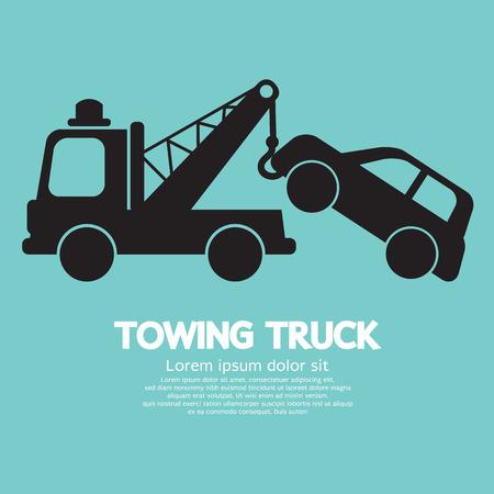crash: Car Towing Truck Vector Illustration Illustration