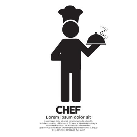 platter: Chef Vector Illustration