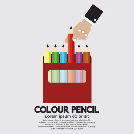 pencil box: Colour Pencils Vector Illustration Illustration