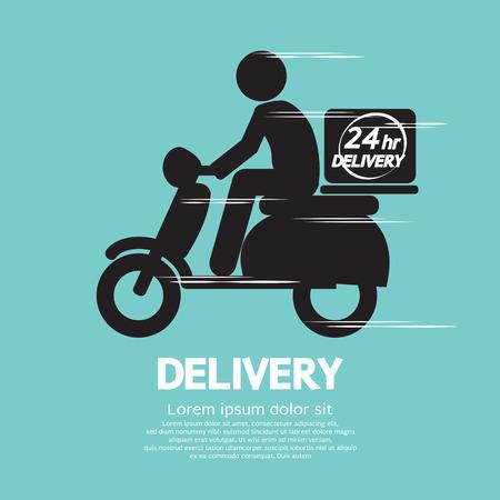 Ilustración vectorial de entrega