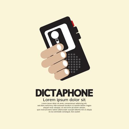 Dictaphone Vector Illustration Illustration