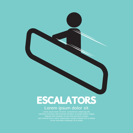 Escalators Vector Illustration