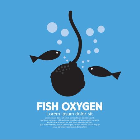tank fish: Fish Oxygen Vector Illustration Illustration
