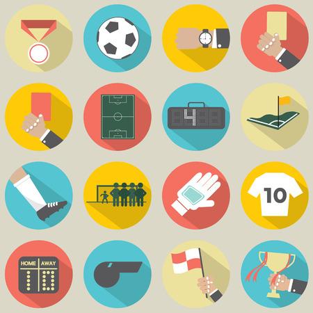 arbitro: Piso Diseño Fútbol Soccer Icons Set 16