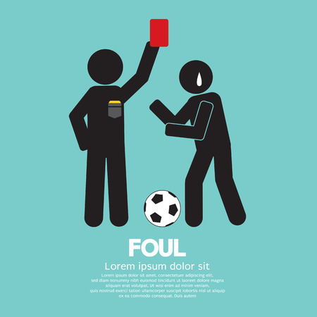 foul: Foul Vector Illustration Illustration