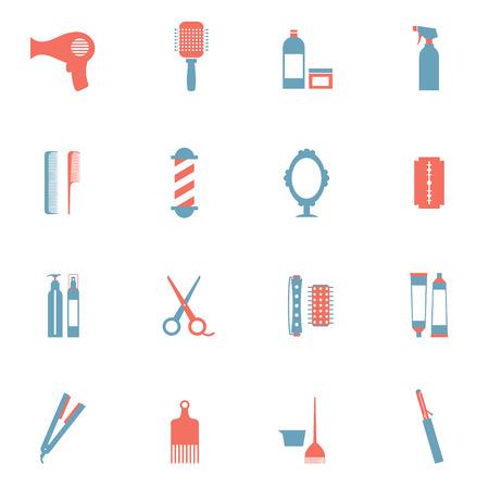 Coiffure Icons Set