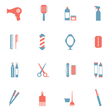 Hairdressing Icons Set