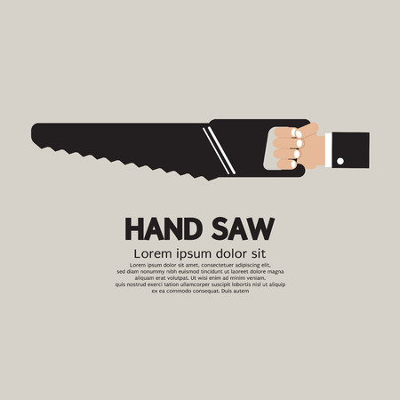 handtool: Hand Saw Vector Illustration Illustration