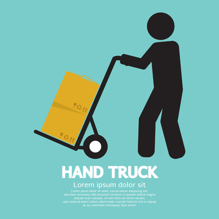Hand Truck Vector Illustration Vector