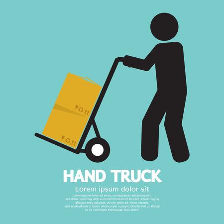 dolly: Hand Truck Vector Illustration Illustration