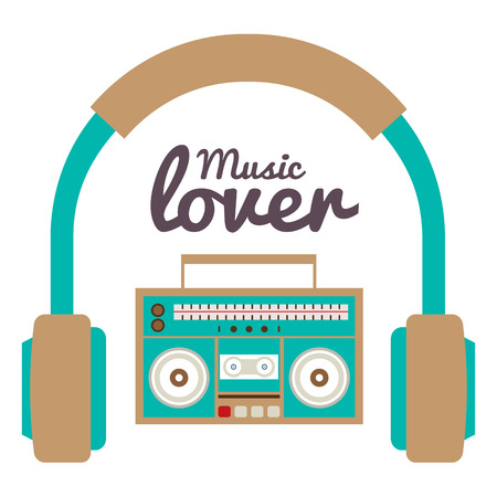 blaster: Music Lover Vector Illustration Illustration