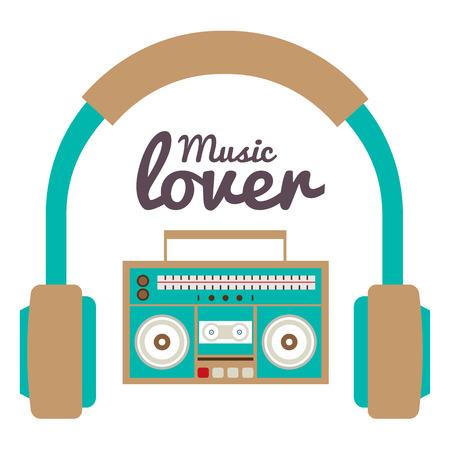 Music Lover Vector Illustration Illustration