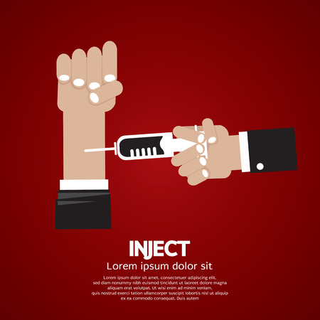 insulin syringe: Inject Vector Illustration