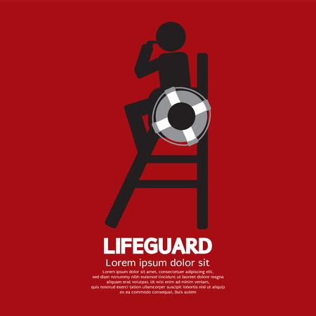 Lifeguard Vector Illustration