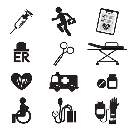 blood pressure: Medical icons Illustration