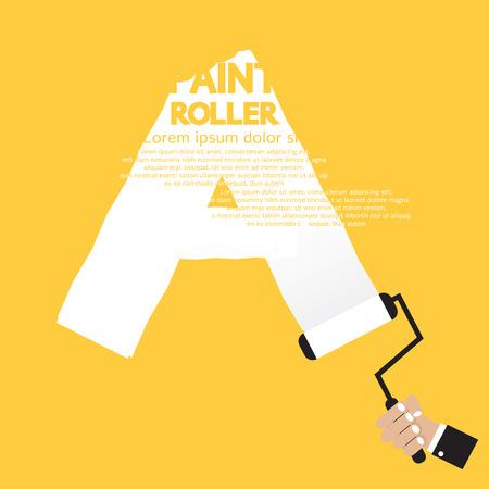letter box: Paint Roller Alphabet A  Illustration