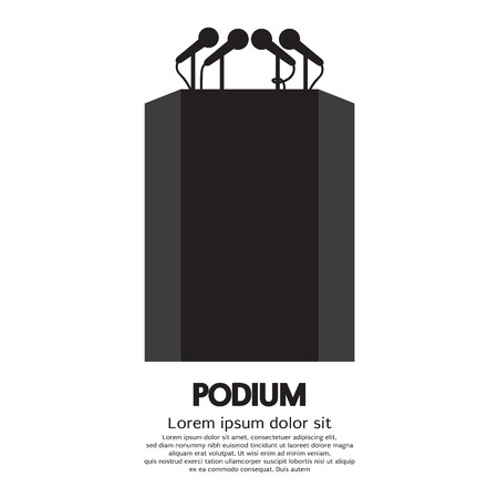 debate: Podium Vector Illustration