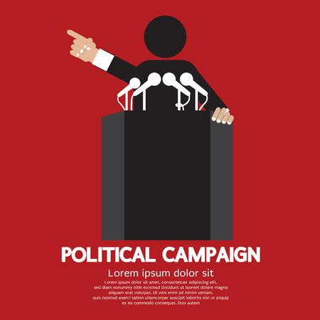 press conference: Political Campaign Vector Illustration