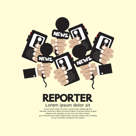 Ilustración Periodista Concept Vector Foto de archivo - 27978056