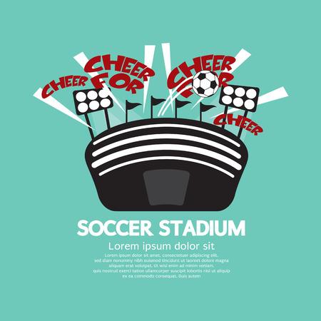 sports venue: Soccer Stadium Vector Illustration