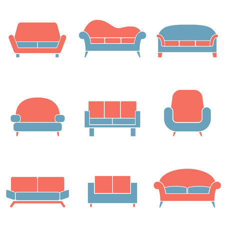 duotone: Sofa Icons Duotone Illustration