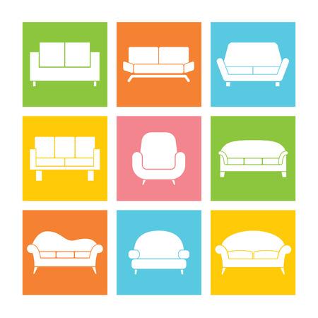 sofa set: Sofa Icons