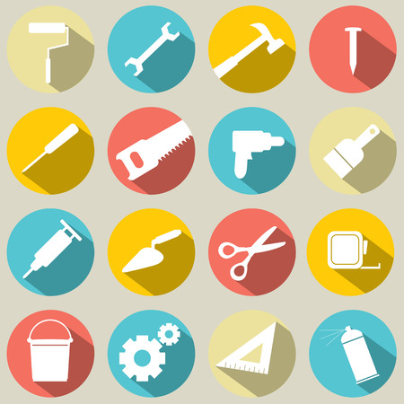 pliers: Working Tools Icons Set 16 Illustration