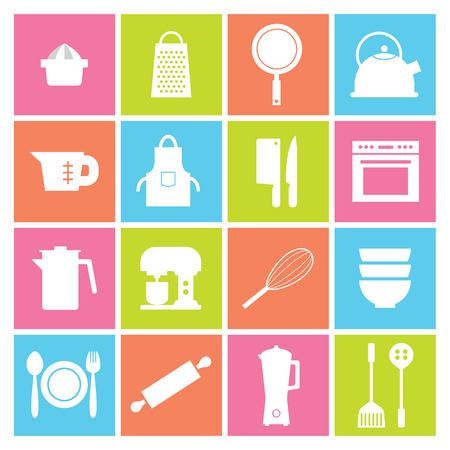 food processor: Utensils Icons set 16