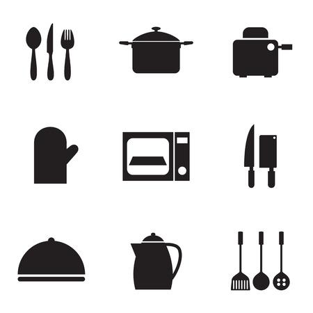 Utensils Icons set 9