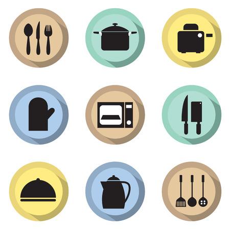 fryer: Utensils Icons set 9
