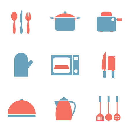 fryer: Utensils Icons set 9