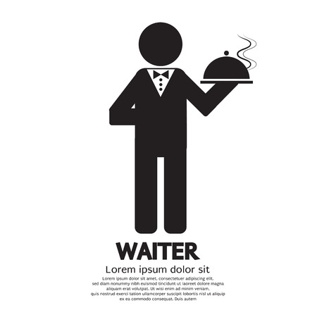 Waiter Vector Illustration Vector