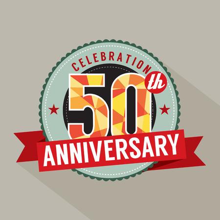 fifty: 50 Years Anniversary Celebration Design