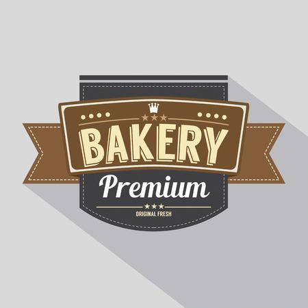 bakery shop: Bakery Label Vector Illustration