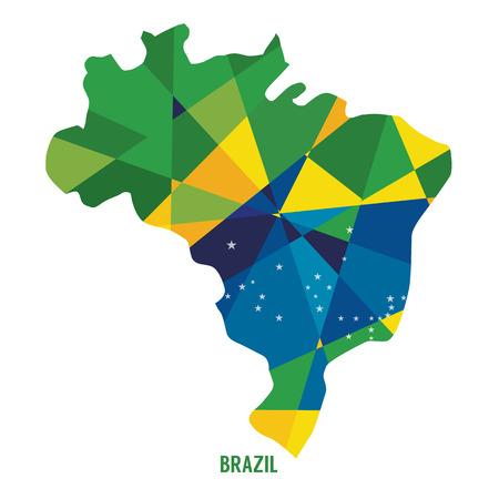 brasil: Map of Brazil Vector Illustration