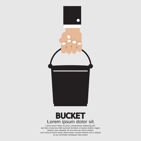 bucket of water: Bucket Vector Illustration Illustration