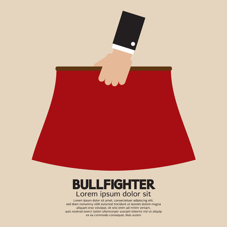 spanish bull: Red Fabric of Bullfighter Vector Illustration