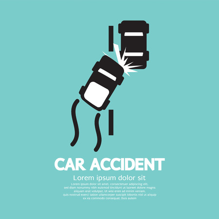 car crash: Auto-ongeluk Vector Illustratie Stock Illustratie