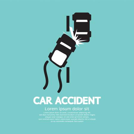 Illustrazione Car Accident Vector Vettoriali