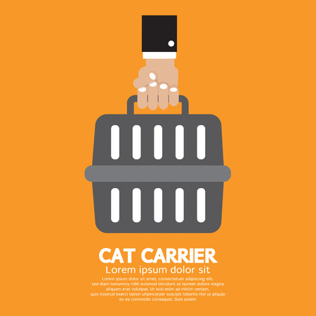 cat carrier: Cat Carrier Vector Illustration Illustration