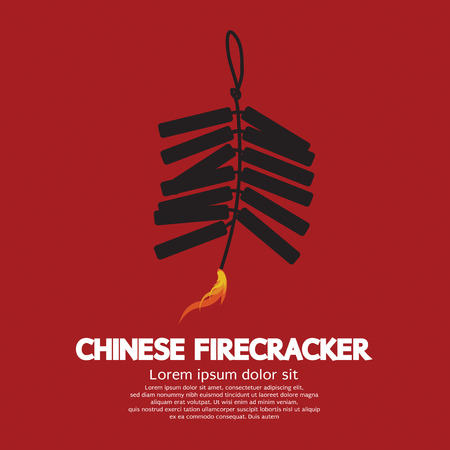Chinese Firecracker Vector Illustration