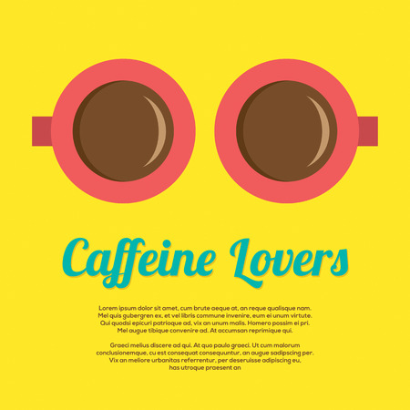 caffeine: Caffeine Lovers Vector Illustration