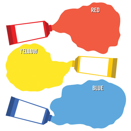 primary color: Squeezed Primary Color Tubes  Illustration