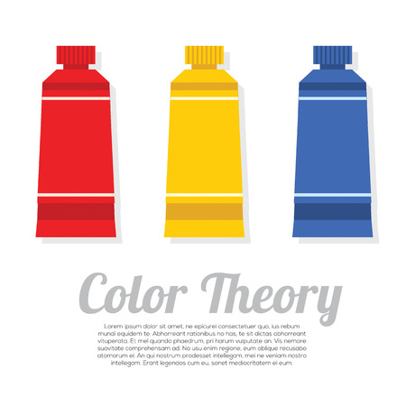 primary color: Set of Primary Color Tubes Illustration